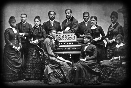 An early photo of The Fisk Jubilee Singers.